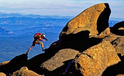 Ian Green on Rum Doodle Ridge on Pikes Peak.