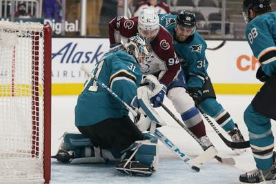 Avalanche Sharks Hockey Landeskog