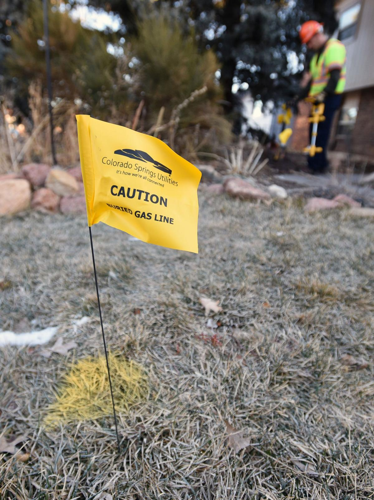 Before digging in a yard, Colorado Springs Utilities will send a specialist to mark the buried gas lines in your yard free of charge. (The Gazette/Jerilee Bennett)