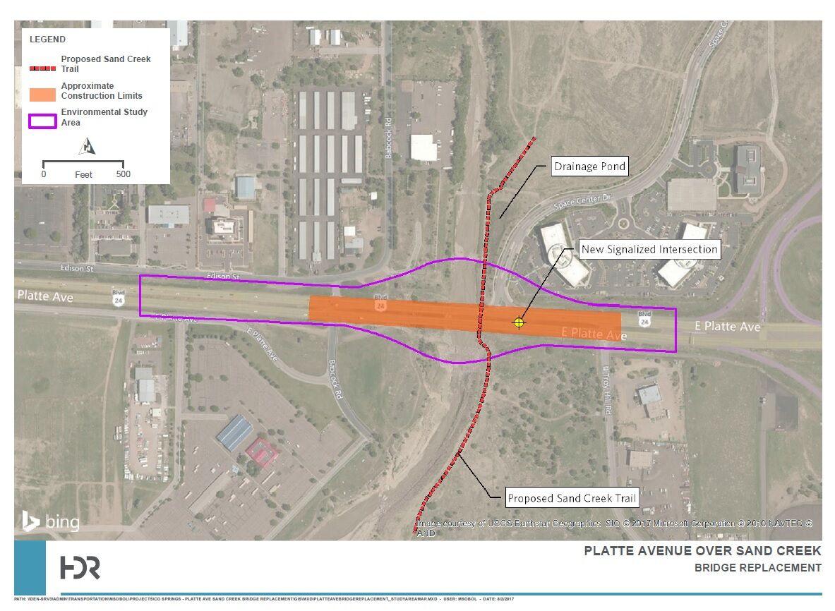 Platte Bridge project area map