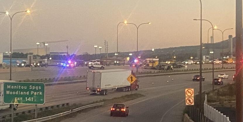 Crash at Bijou and I-25