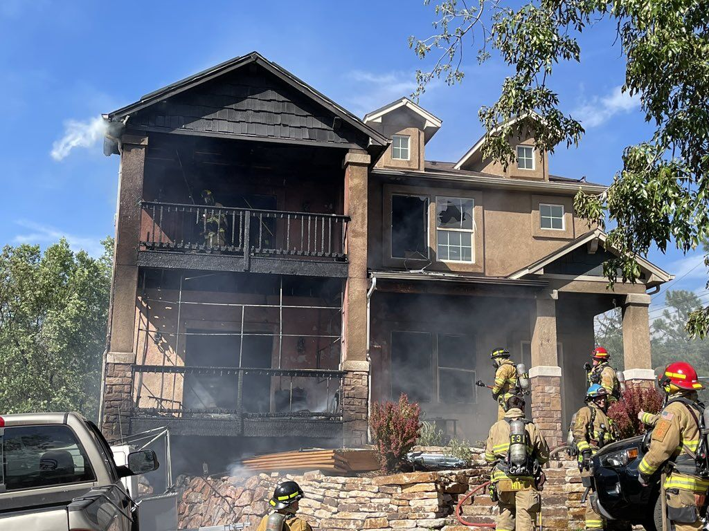 House fire in Old Colorado City
