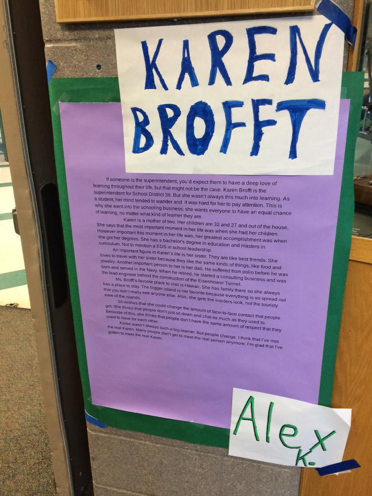 District 38 Superintendent Karen Brofft
