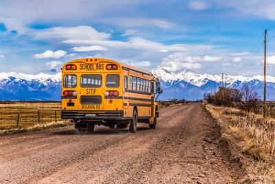 Yellow School Bus colorado