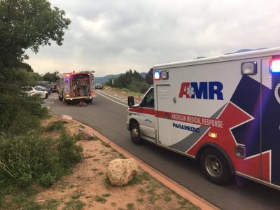 climber falls at Garden of the Gods