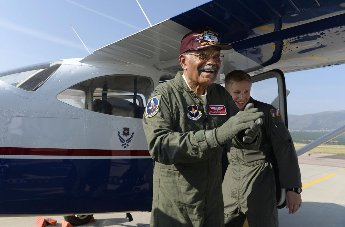 Tuskegee airman takes off once again from Colorado Springs