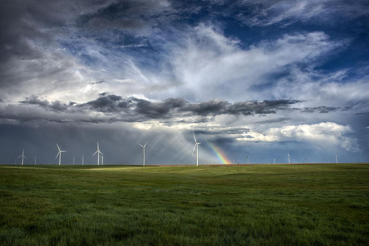 COVER STORY Wind Farm turbines colorado