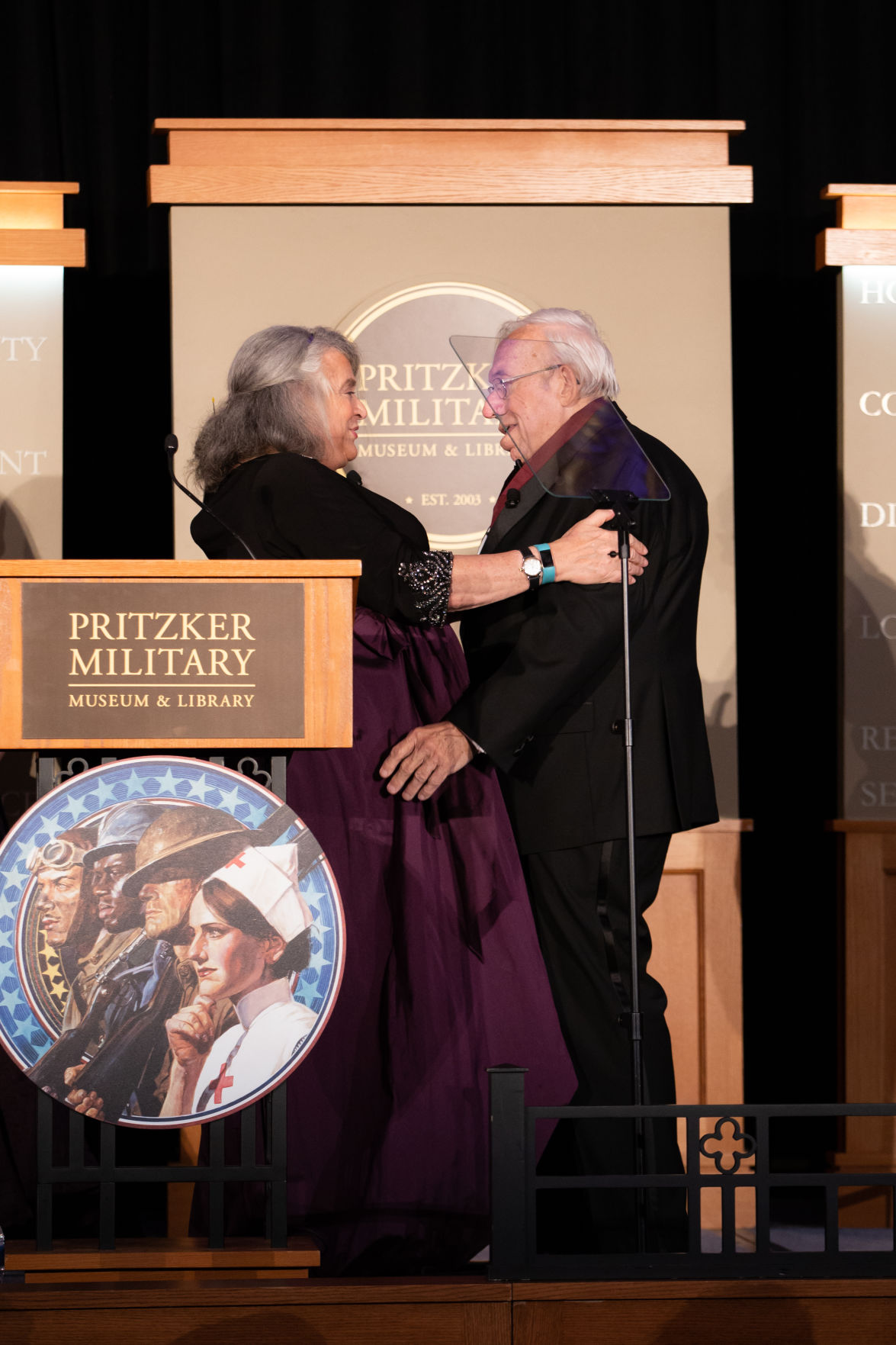 Dennis Showalter accepting Pritzker award for Lifetime Achievement in Military Writing