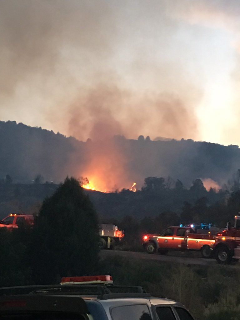 Deer Creek Canyon Park Fire