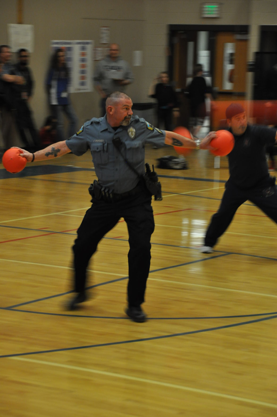 It's fun and games at adults versus Teller teens dodgeball tourney