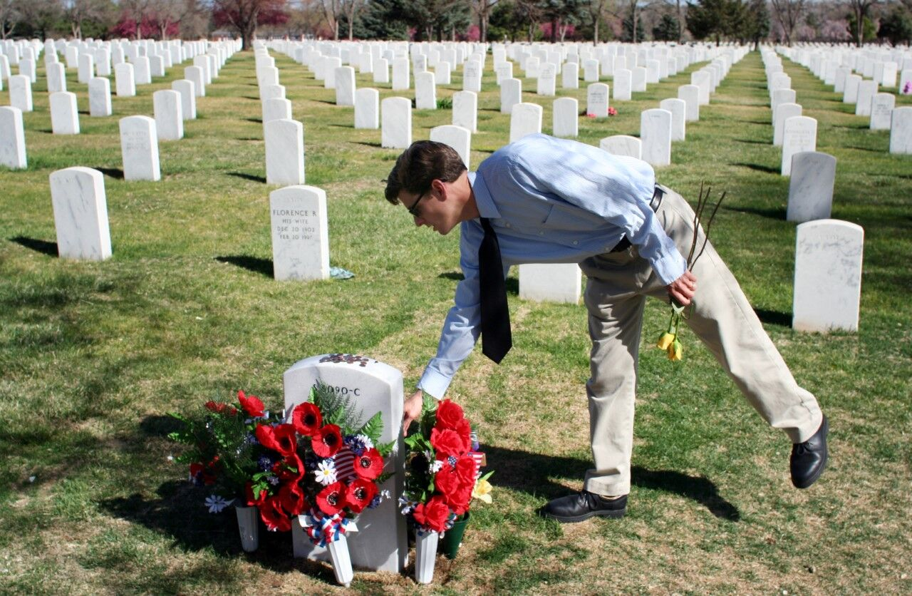 Jim Sheeler at Fort Logan National Cemetery
