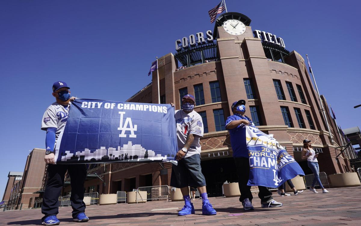 Dodgers Rockies Baseball fans
