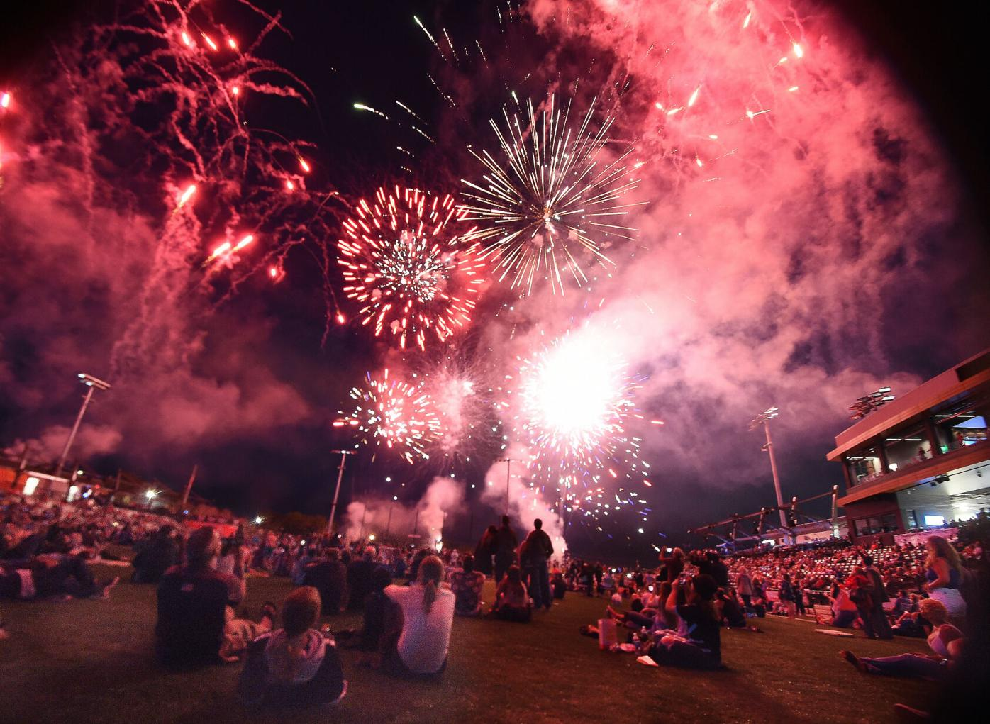 Photo of the Week: Switchbacks fans watch first fireworks show at new stadium (copy)