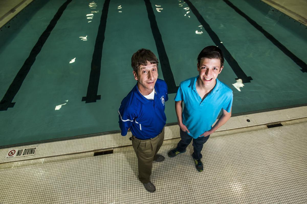 Fountain-Fort Carson swim coach John Rork enjoys dual meets against his son Jack's Palmer team