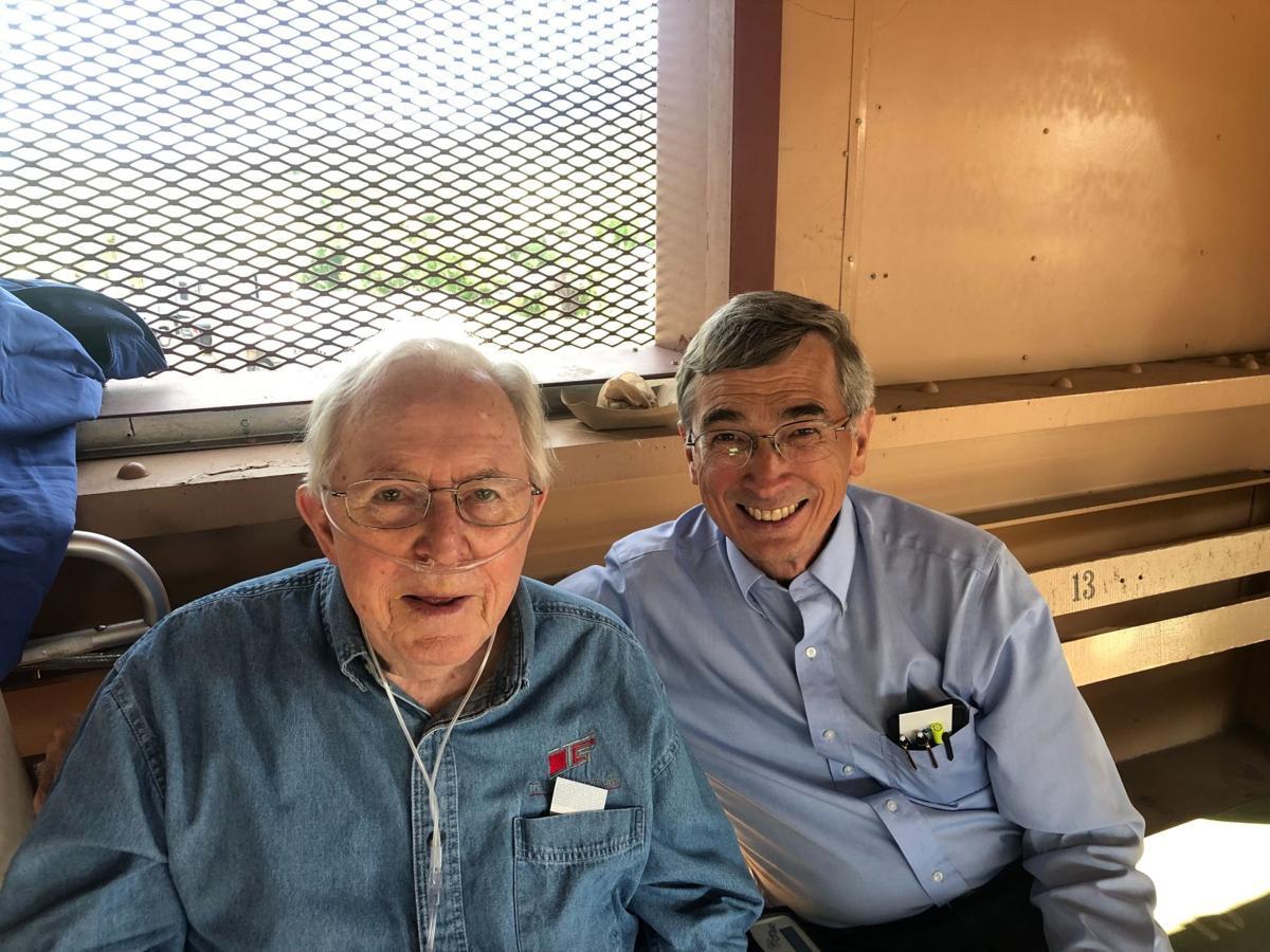 Skip and Ken Gray at rodeo