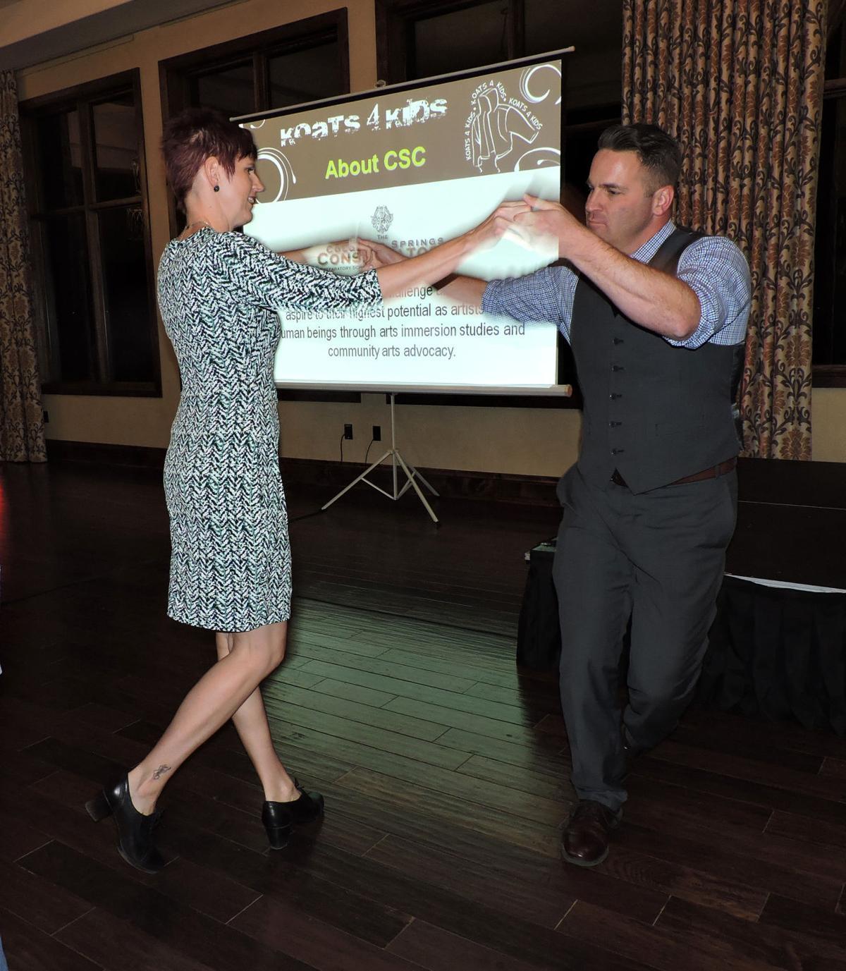 Heather and Robert Bishop took to the dance floor at Koats 4 Kids. 102116 Photo by Linda Navarro