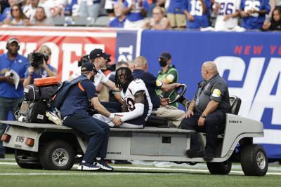 Broncos Giants Football Jeudy cart