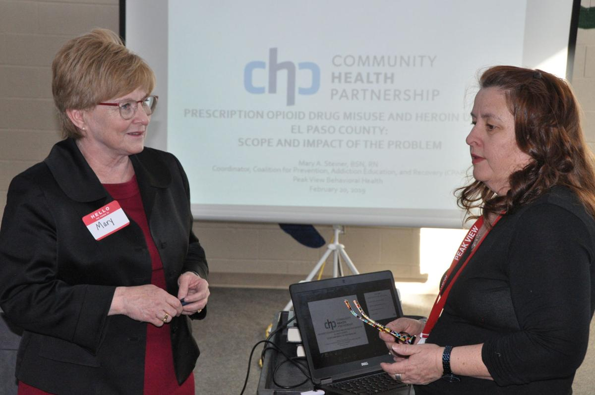 Mary Steiner discusses overdose deaths in El Paso County with Denise Warren