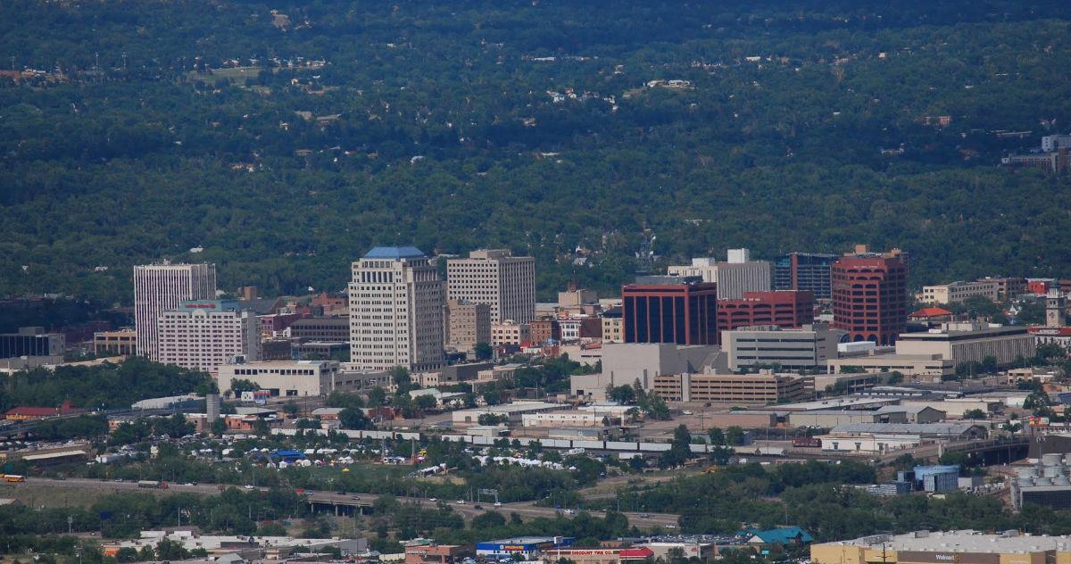 Downtown Colorado Springs. Image via Google Maps.