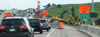 I-25 southbound traffic