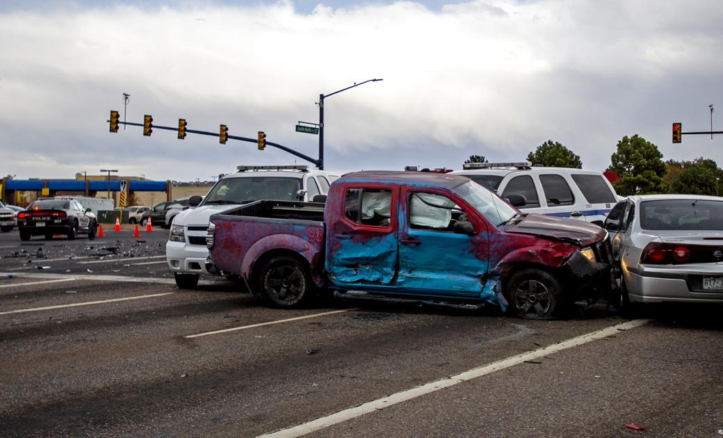 Pickup causes multiple crashes in chaotic chase across El Paso County