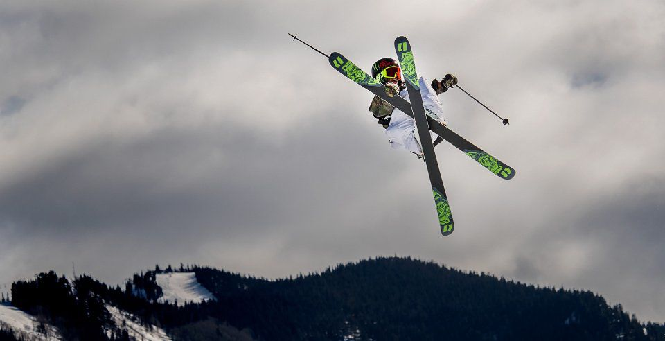 Henrik Harlaut scores a 93.00 on his fiirst run and wins the gold in the Men's Ski Slopestyle finals Sunday, Jan. 28, 2018, during the final day of the X Games Aspen at Buttermilk Mountain in Aspen, Colo. (The Gazette, Christian Murdock)