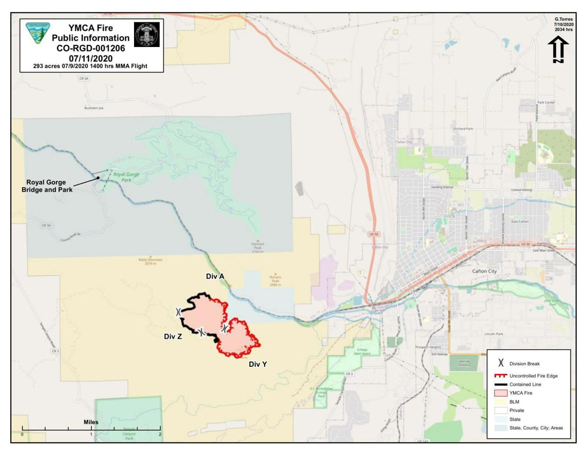 YMCA fire map as of 071020