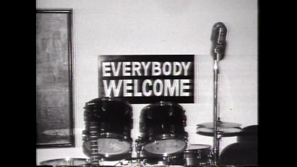 Everybody Welcome sign at the Cotton Club