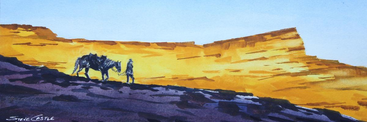 Steve Castle, watercolorist,
