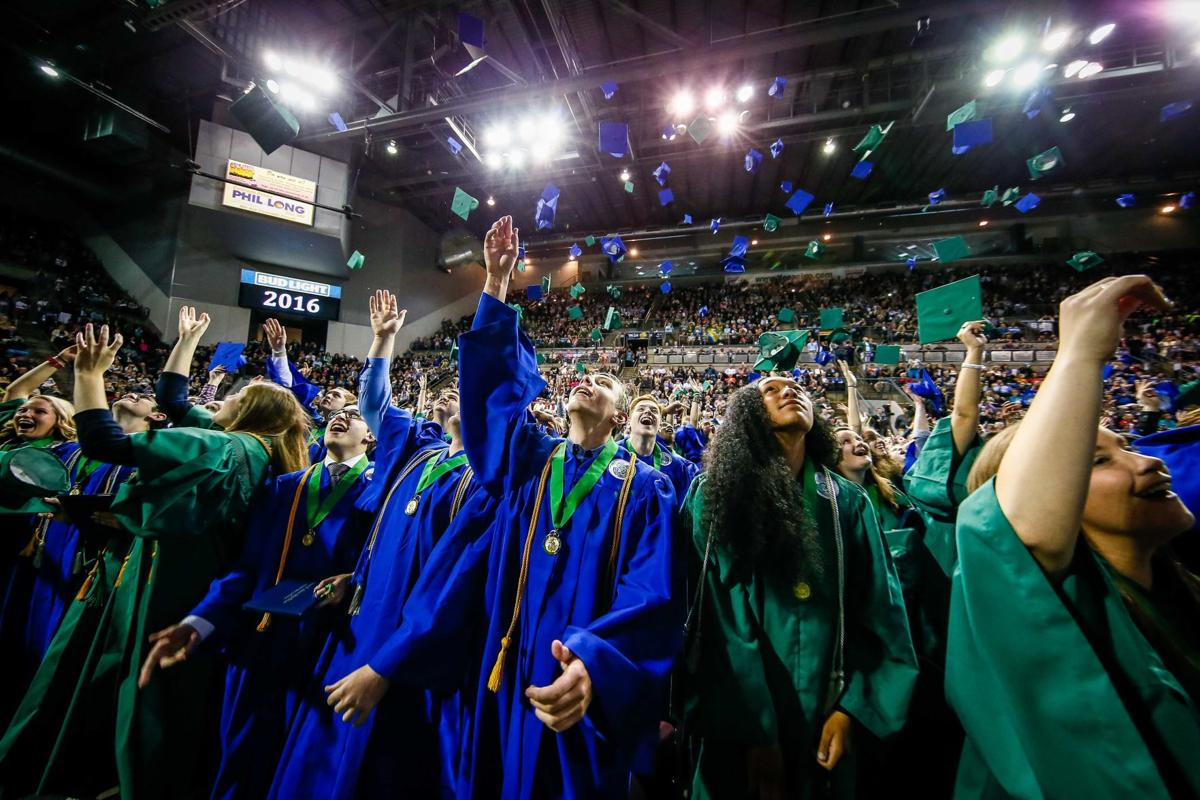 The Doherty Spartans Class of 2016 graduates on May 17, 2016 at the Broadmoor World Arena. Photo by Isaiah J. Downing