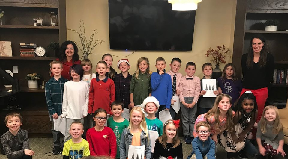 D-38 second graders spread holiday cheer and spirit