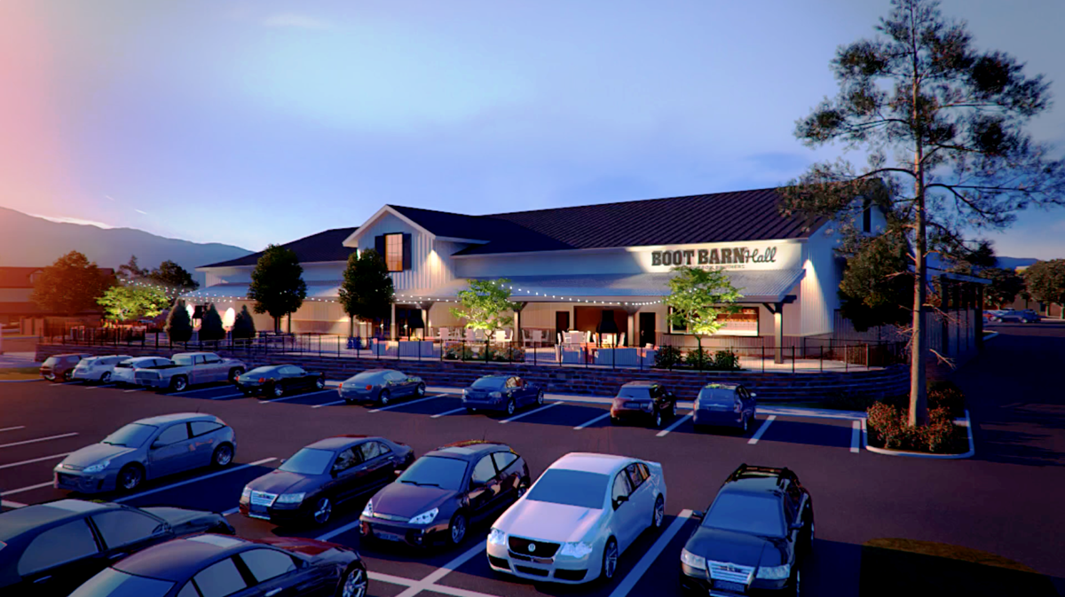 BOOT BARN HALL AT BOURBON BROTHERS RENDERING