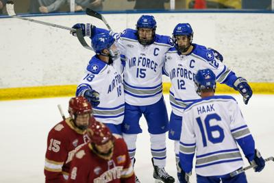 Air Force Hockey Wins Ice Vegas Opener Will Play In Tournament