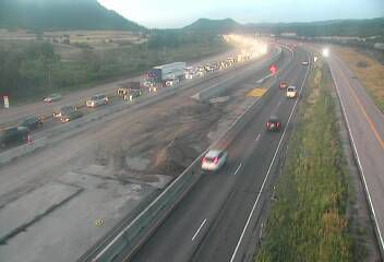 Monday's traffic: Major delays on I-25 due to morning road work, crash