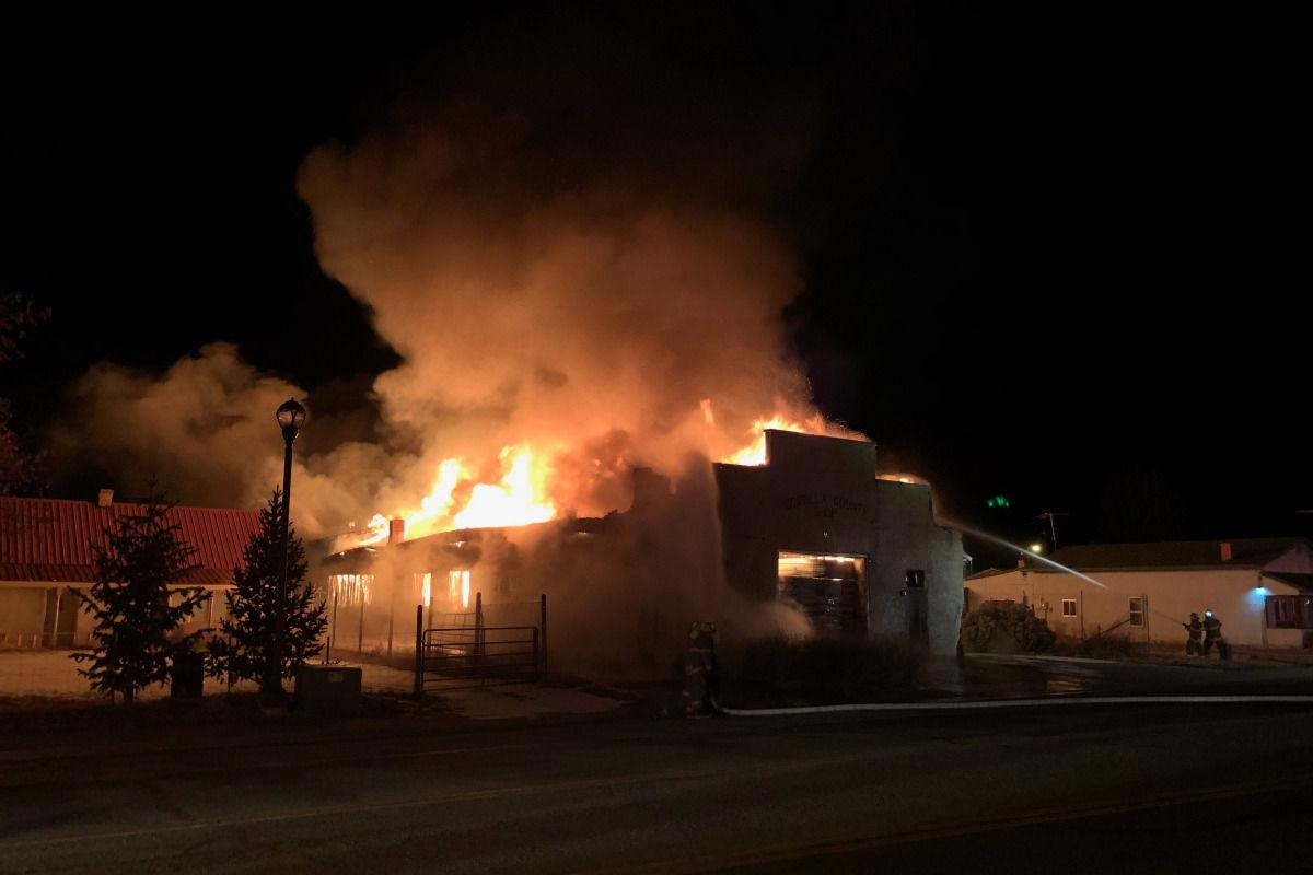 fire at Hubertos Sculpture Studio posted on gofundme by Aubin Meastas.jpeg