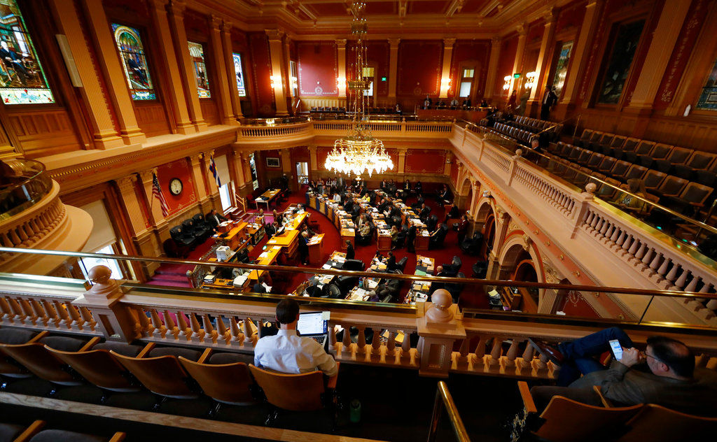 Colorado Senate Legislature closing day