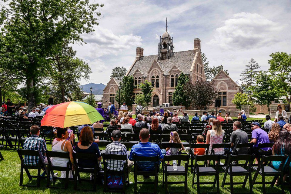 Graduation exercises were held for Community Prep School on Friday, June 3, 2016 at Colorado College. Photo by Isaiah J. Downing