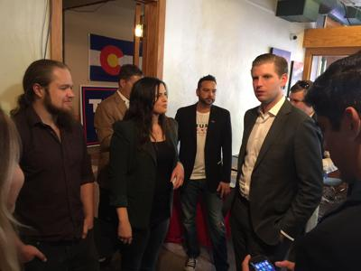 Eric Trump defends his father in Colorado, blasts the Clintons