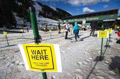 A shot from when Arapahoe Basin was able to reopen at the end of the 2019-2020 ski season. Photo Credit: Christian Murdock; The Gazette.