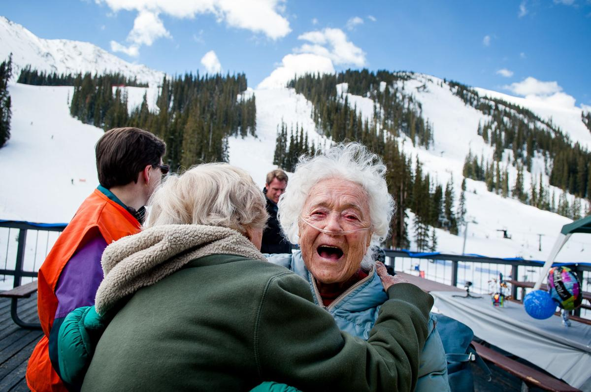 100-year-old woman from Colorado Springs enjoys a skiing birthday