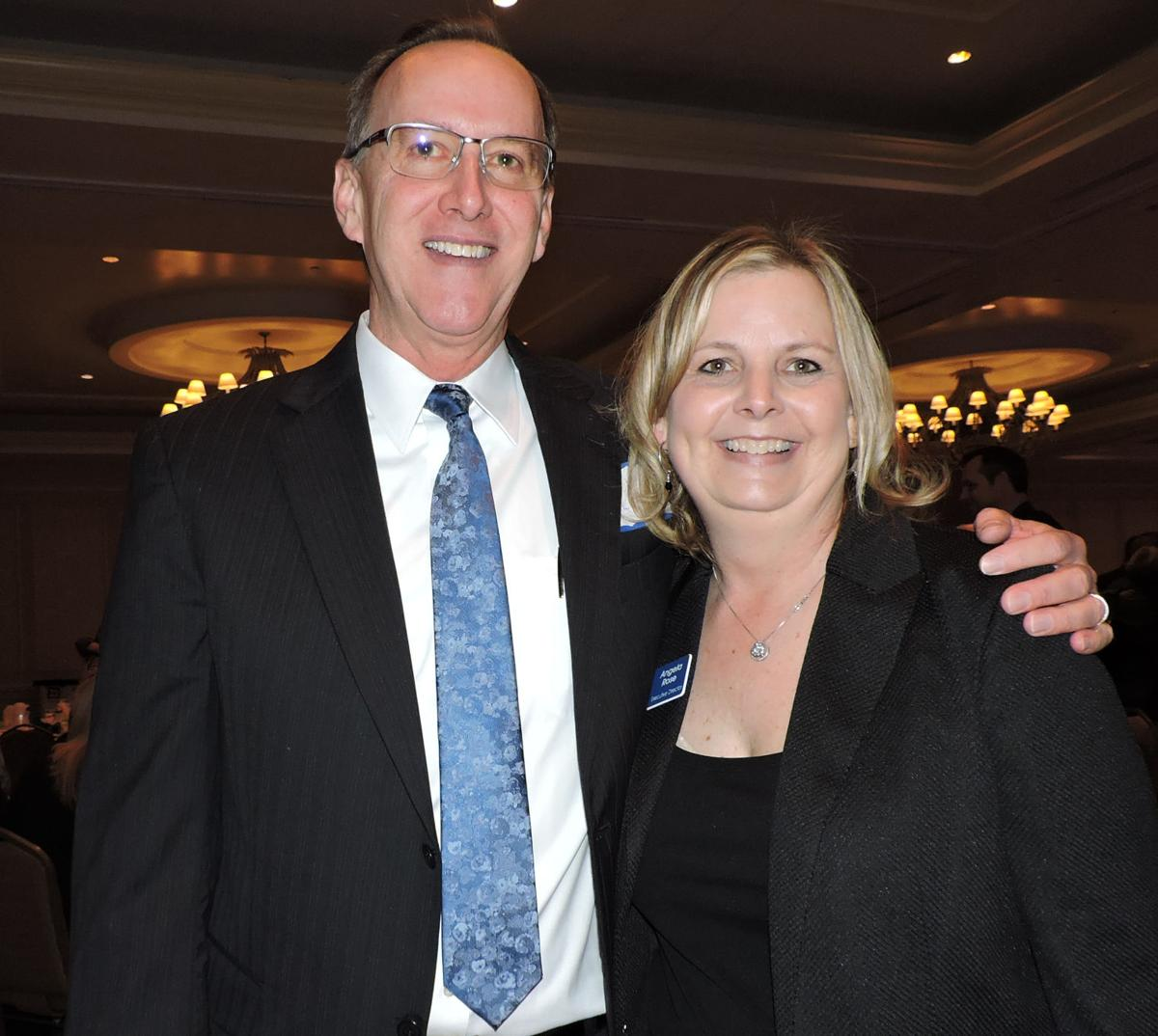 """CASA Light of Hope breakfast: CASA Executive Director Angela Rose with CASA Advocate Roy Fulcher, the featured speaker who told """"Gavin's Story.' 042518 Photo by Linda Navarro"""