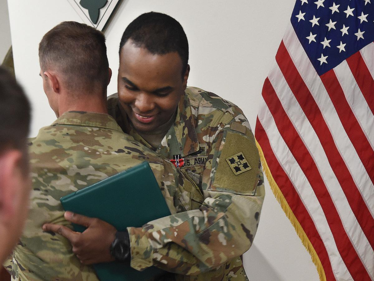 Honored for his valor, Carson soldier details pain of victory