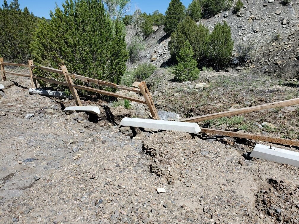 Fishers Peak State Park is closed for repair closed for repairs after recent heavy rains. Photo Courtesy of Colorado Parks and Wildlife.