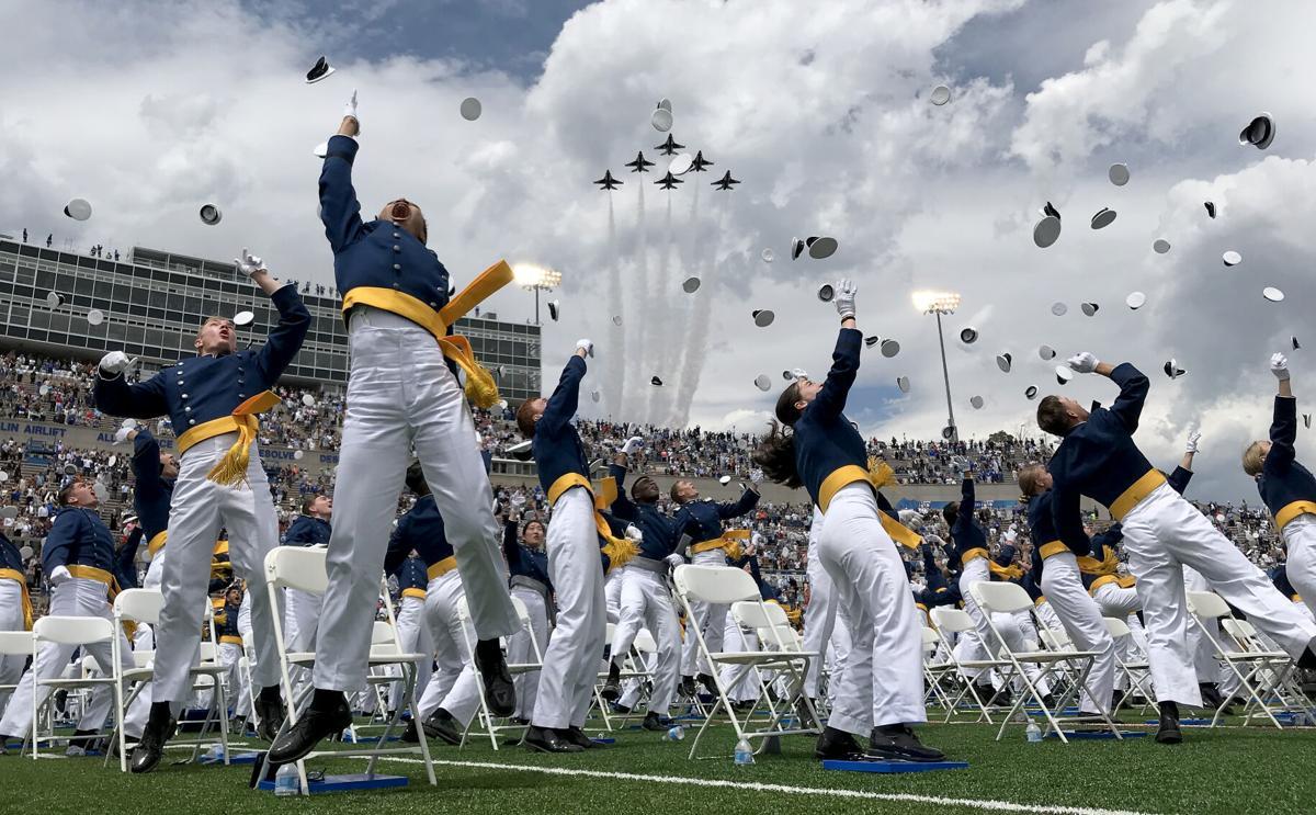 Thunderbirds fly over Class of 2021 graduation ceremony