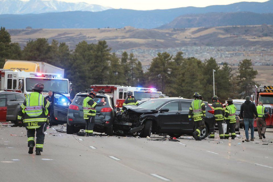 Friday's traffic: All lanes of northbound I-25 at Castle Rock open