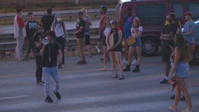 I-25 protest