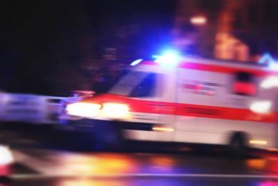 Blurry emergency car ambulance