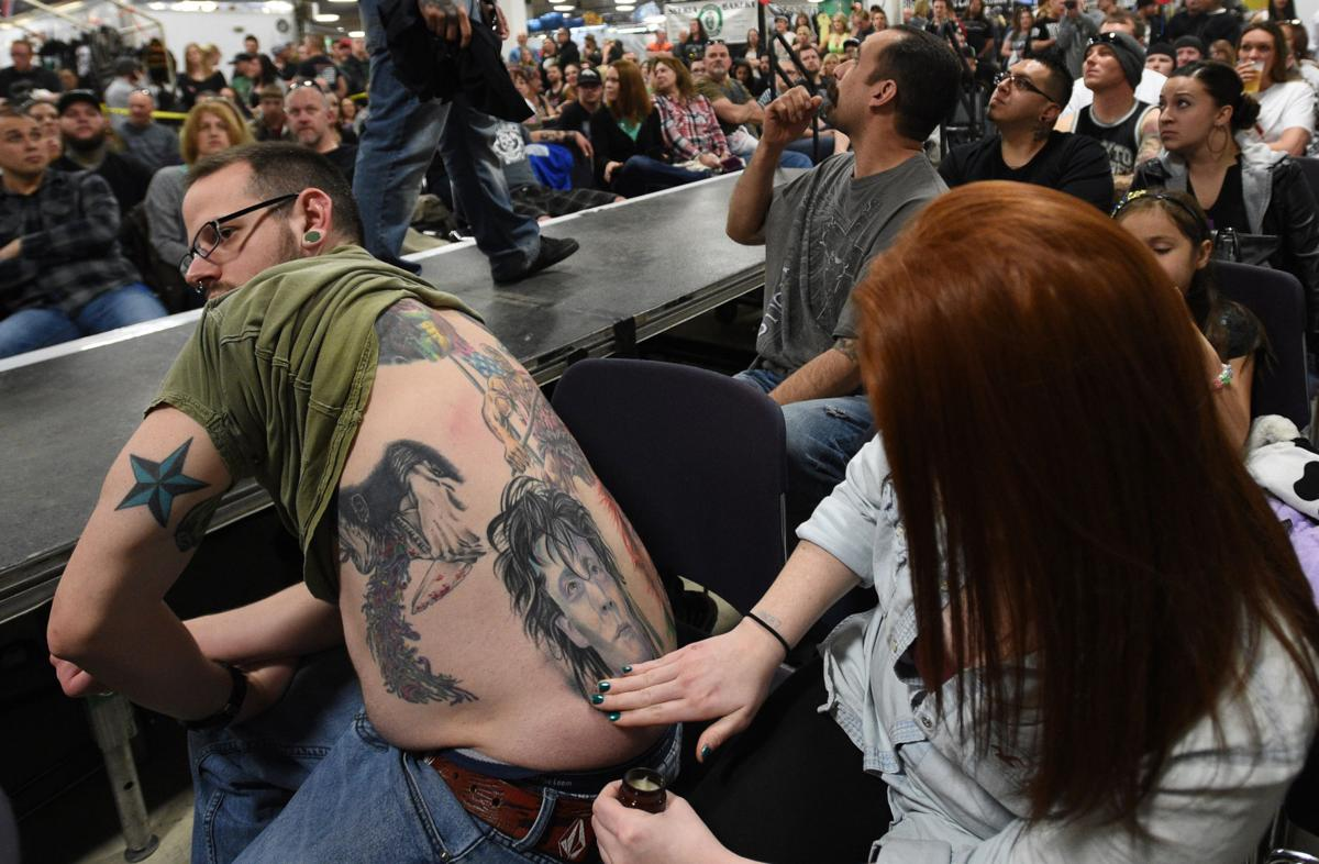 Eclectic canvases on display at annual Colorado Springs motorcyle, tattoo event