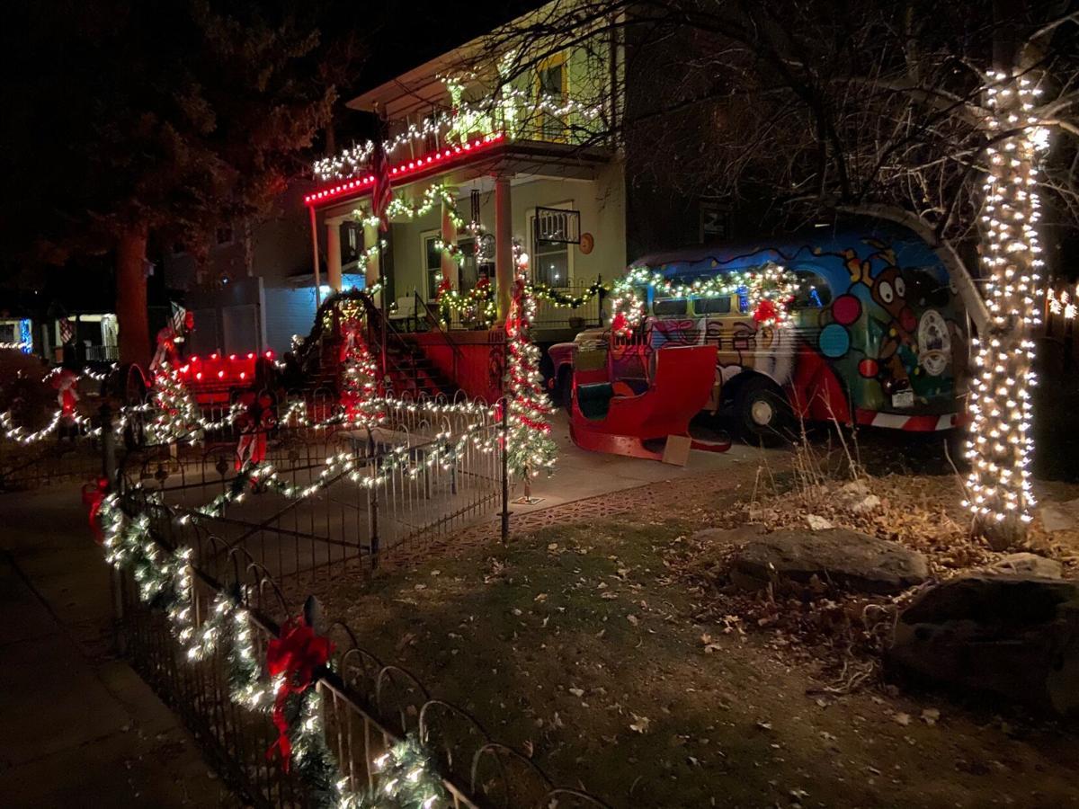 Westside holiday decorations illuminate