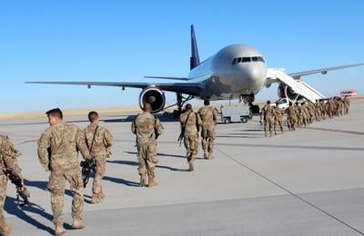 Fort Carson soldiers head overseas
